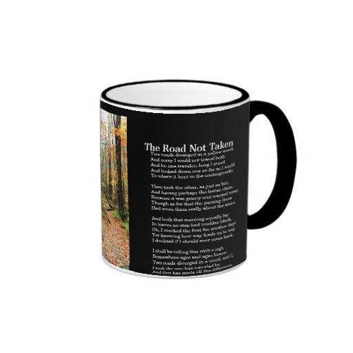The Road Not Taken - Printed Poem On Mug - Autumn