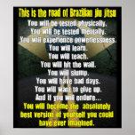 """""""The Road of Brazilian Jiu Jitsu"""" Poster"""