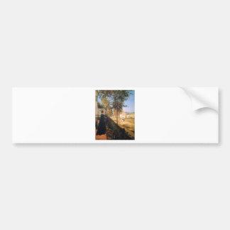 The road of Versailles by Camille Pissarro Car Bumper Sticker
