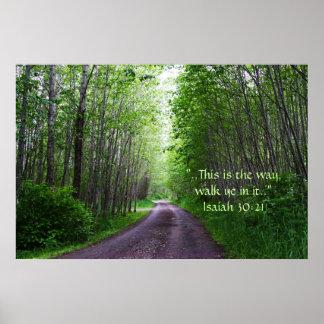 The Road Print w/Scripture Verse