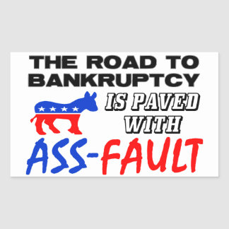 The Road To Bankruptcy! Rectangle Stickers