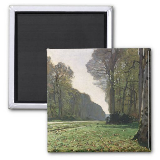 The Road to Bas-Breau, Fontainebleau , c.1865 Fridge Magnets