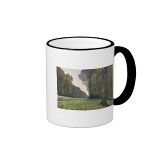 The Road to Bas-Breau, Fontainebleau , c.1865 Ringer Coffee Mug