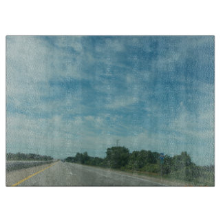 The Road to Blue Skies Cutting Board