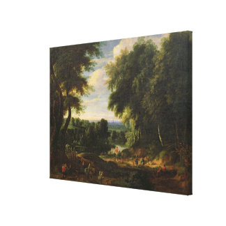 The Road to Boitsfort from Auderghem Canvas Print