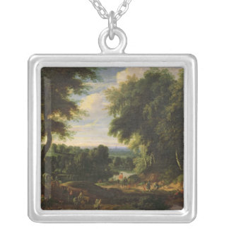 The Road to Boitsfort from Auderghem Silver Plated Necklace