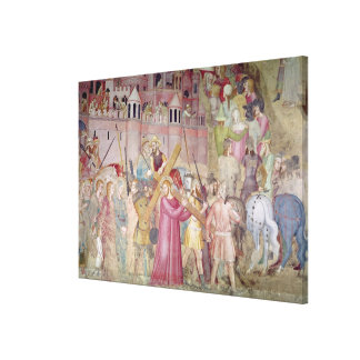 The Road to Calvary, from the Spanish Chapel Canvas Print