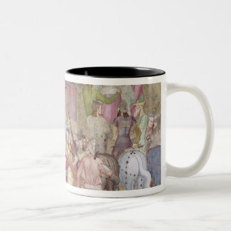 The Road to Calvary, from the Spanish Chapel Two-Tone Coffee Mug