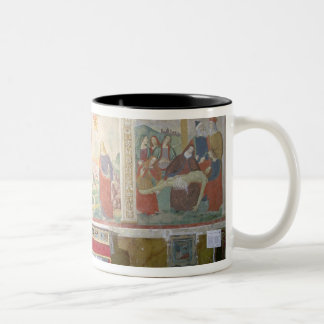 The Road to Calvary, The Crucifixion, The Depositi Two-Tone Coffee Mug