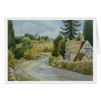 The Road to Coln St Aldwyns Greeting Card