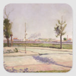 The Road to Gennevilliers, 1883 Square Sticker