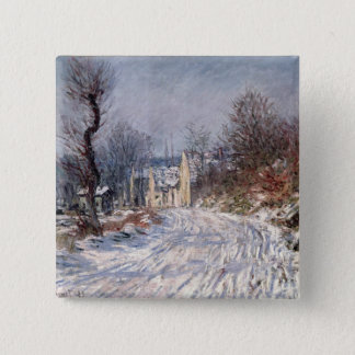 The Road to Giverny, Winter, 1885 Pinback Button