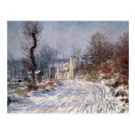 The Road to Giverny, Winter, 1885 Postcard
