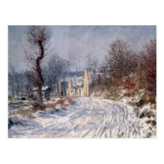 The Road to Giverny, Winter, 1885 Post Card
