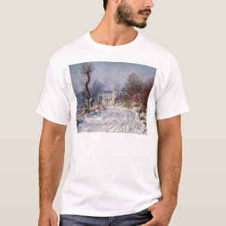 The Road to Giverny, Winter, 1885 T-Shirt