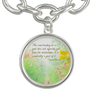 The Road to Goals Charm Bracelet