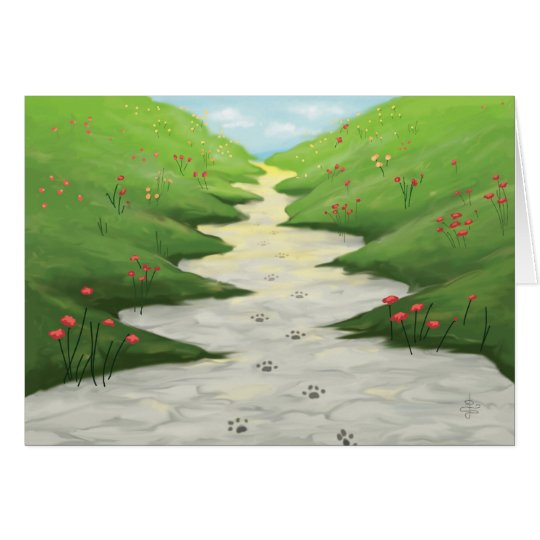 The Road To Heaven... Pet Sympathy Card