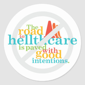 The Road to Hellthcare... Stickers