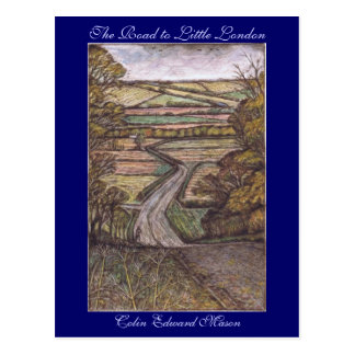 The Road to Little London Art Postcard