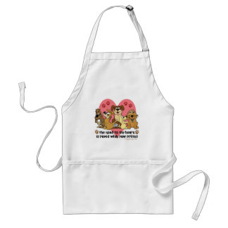The Road To My Heart Dog Adult Apron