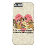 The Road To My Heart Dog Paw Prints Barely There iPhone 6 Case