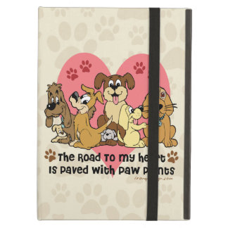 The Road To My Heart Dog Paw Prints Cover For iPad Air