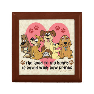 The Road To My Heart Dog Paw Prints Gift Box