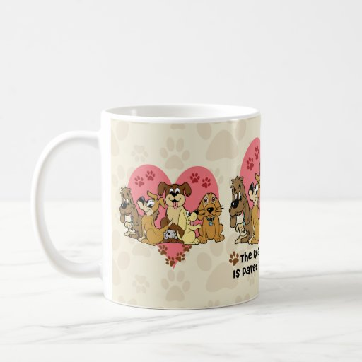 The Road To My Heart Dog Paw Prints Mugs