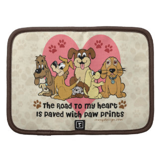 The Road To My Heart Dog Paw Prints Organizer