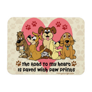 The Road To My Heart Dogs Magnet
