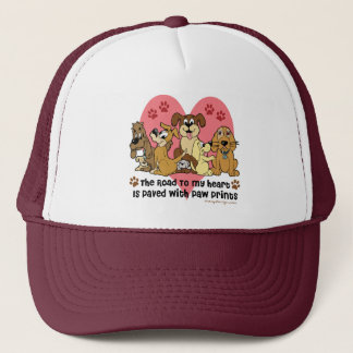 The Road To My Heart Dogs Trucker Hat