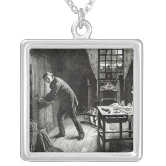 The Road to Ruin, engraved by L. Flameng, 1878 Silver Plated Necklace