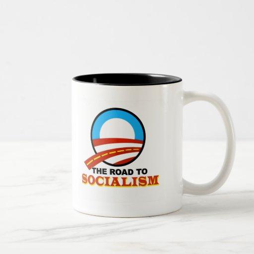 The Road To Socialism Two-Tone Coffee Mug