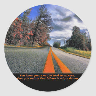 The Road to Success Classic Round Sticker