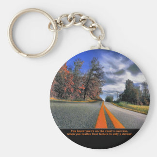 The Road to Success Keychain