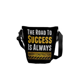The road to success messenger bag