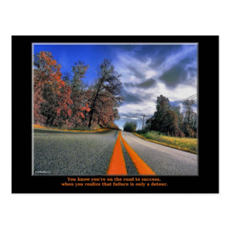 The Road to Success Postcard