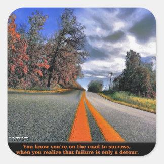 The Road to Success Square Sticker