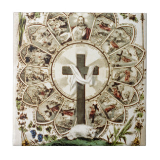 The Road to the Holy Cross Ceramic Tile