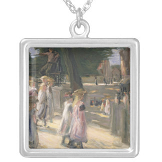 The Road to the school at Edam Silver Plated Necklace