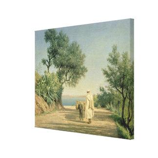 The Road to the Sea, Algeria, 1883 Canvas Print