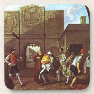The Roast Beef of Old England by William Hogarth Coaster