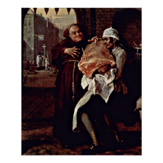 The roast beef of Old England by William Hogarth Poster