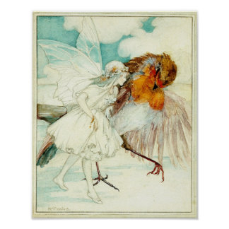 The Robin and the Flower Fairy Poster