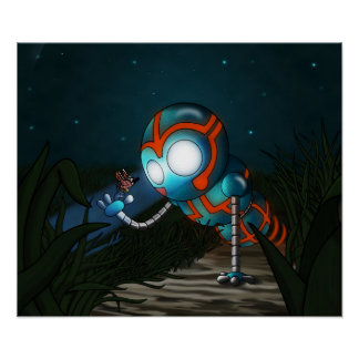 The Robot and Butterfly Poster