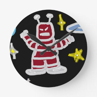 The Robot Round Wall Clocks