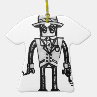 The Robot Takeover Gangster Robot Ceramic T-Shirt Decoration