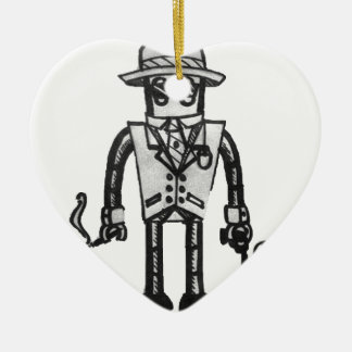 The Robot Takeover Gangster Robot Ceramic Heart Decoration