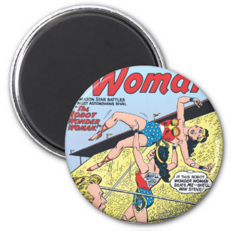The Robot Wonder Woman Magnet