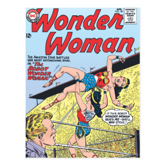 The Robot Wonder Woman Postcard